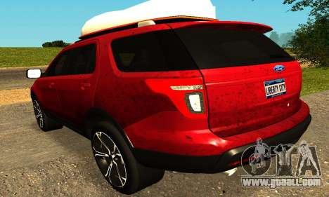 Ford Explorer 2013 for GTA San Andreas back left view