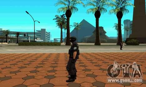 NextGen changed the original skin SWAT for GTA San Andreas sixth screenshot