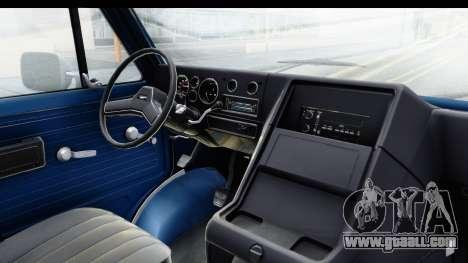 GMC Vandura 1985 White Stripes HQLM for GTA San Andreas inner view