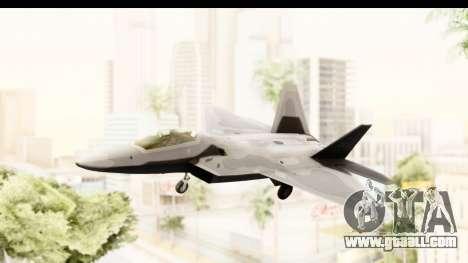 Lockheed Martin F-22 Raptor for GTA San Andreas