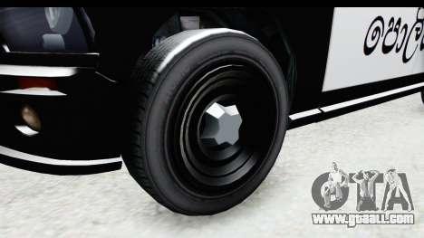 Sri Lanka Police Car v2 for GTA San Andreas back view