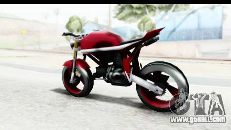 Custom Stunt FCR9000 for GTA San Andreas back left view