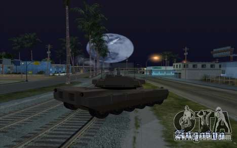 The effect of firing tank for GTA San Andreas third screenshot
