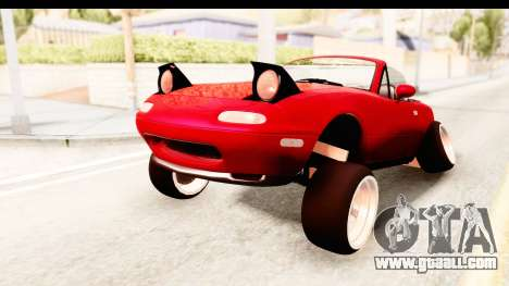 Mazda Miata with Crazy Camber for GTA San Andreas right view