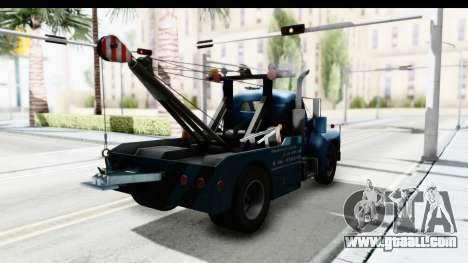 Mack B-61 1953 Towtruck v2 for GTA San Andreas back left view