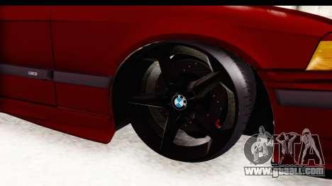 BMW M3 E36 Spermatozoid Edition for GTA San Andreas back view