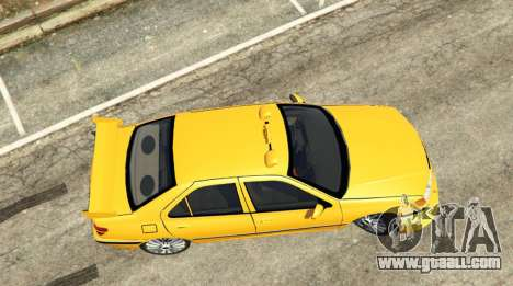GTA 5 Taxi Peugeot 406 v1.0 back view