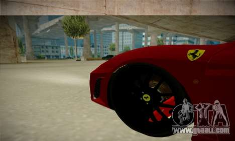 Ferrari F430 Spider for GTA San Andreas back view