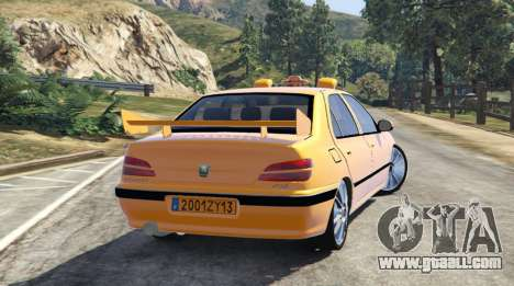 GTA 5 Taxi Peugeot 406 v1.0 left side view