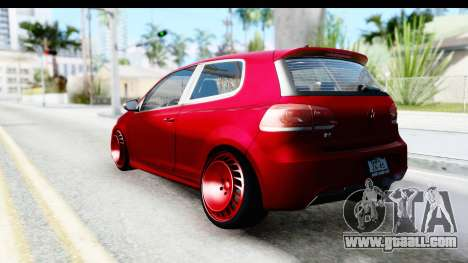 Volkswagen Golf R for GTA San Andreas right view