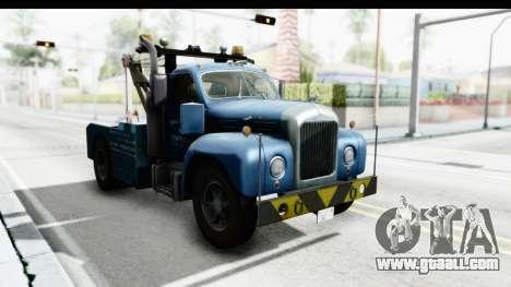 Mack B-61 1953 Towtruck v2 for GTA San Andreas right view