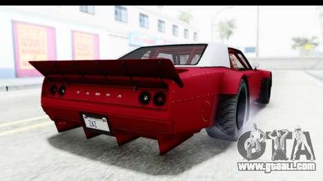 GTA 5 Declasse Drift Tampa IVF for GTA San Andreas left view