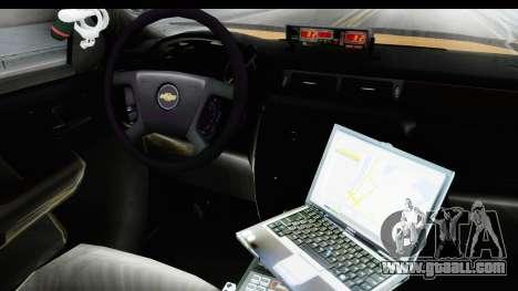 Chevrolet Silvedaro Basarnas for GTA San Andreas inner view