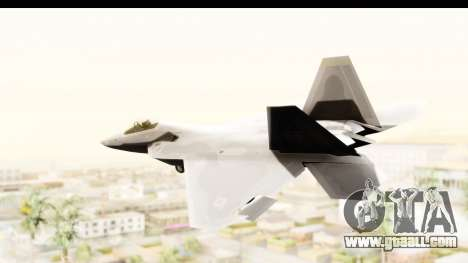 Lockheed Martin F-22 Raptor for GTA San Andreas left view