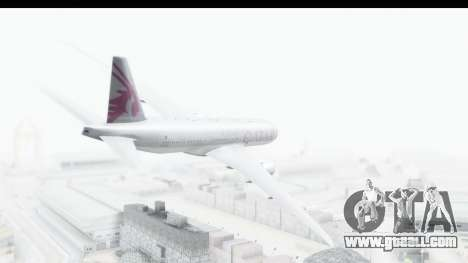 Boeing 777-200LR Qatar Airways for GTA San Andreas left view