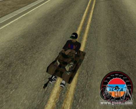 The speedometer in the style of the Armenian fla for GTA San Andreas sixth screenshot