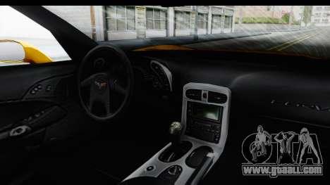 NFS Carbon Chevrolet Corvette for GTA San Andreas inner view