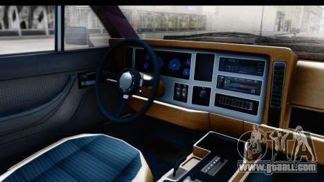 Jeep Grand Wagoneer for GTA San Andreas back view