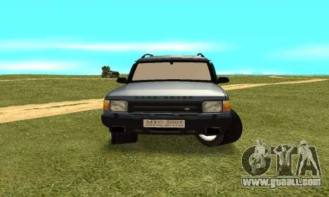 Land Rover Discovery 2B for GTA San Andreas back view