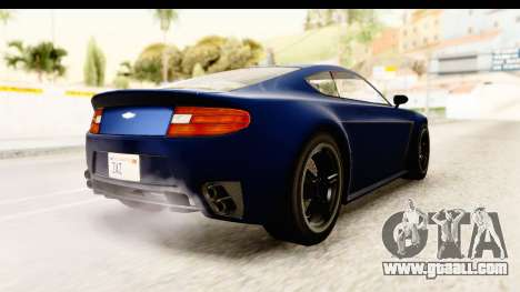 GTA 5 Dewbauchee Rapid GT for GTA San Andreas back left view