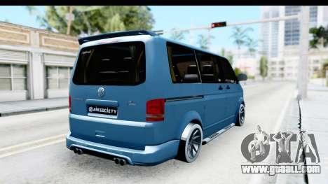 Volkswagen Caravelle for GTA San Andreas back left view