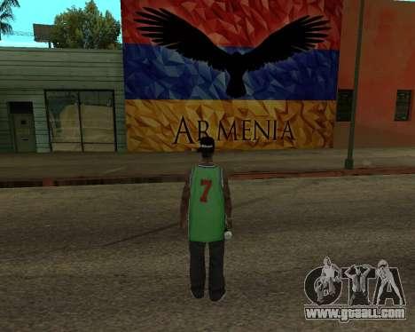 Grove Street Armenian Flag for GTA San Andreas second screenshot