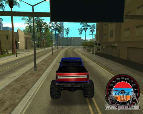 The speedometer in the style of the Armenian fla for GTA San Andreas fifth screenshot
