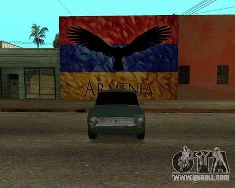 VAZ 2101 Armenian for GTA San Andreas right view