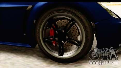 GTA 5 Dewbauchee Rapid GT for GTA San Andreas back view