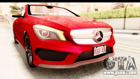 Mercedes-Benz CLA45 AMG 2014 for GTA San Andreas upper view
