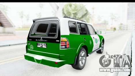 Mitsubishi Montero Carabineros Section SIAT for GTA San Andreas back left view
