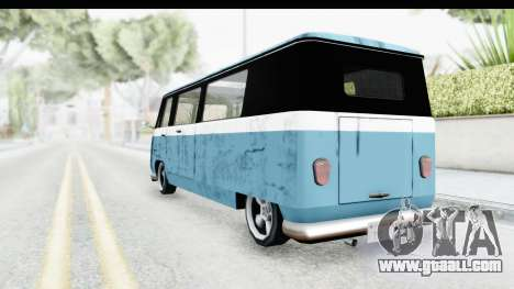 New Camper for GTA San Andreas back left view