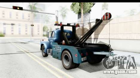 Mack B-61 1953 Towtruck v2 for GTA San Andreas left view