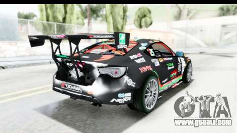 D1GP Toyota 86 2015 DRIVE for GTA San Andreas left view