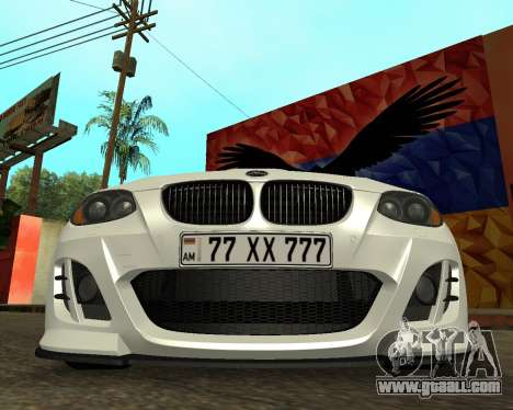 BMW M3 Armenian for GTA San Andreas back view