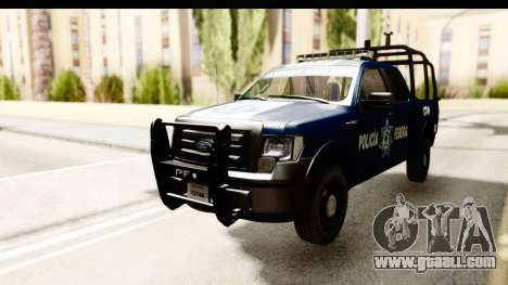 Ford F-150 Federal Police for GTA San Andreas back left view