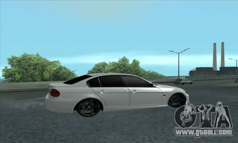BMW 325i E90 for GTA San Andreas back left view