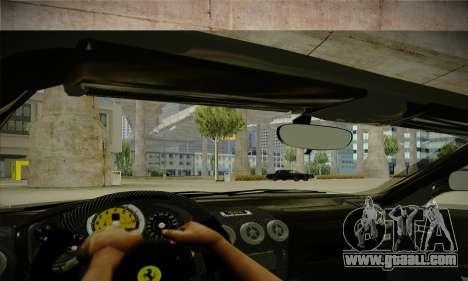 Ferrari F430 Spider for GTA San Andreas inner view