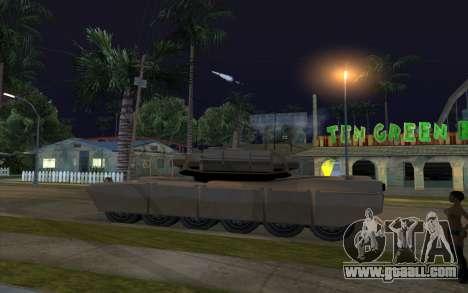 The effect of firing tank for GTA San Andreas second screenshot