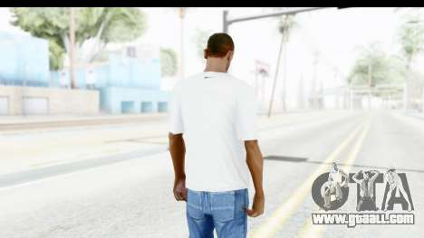 Nike Kyrie Notebook T-Shirt for GTA San Andreas third screenshot