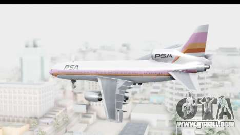 Lockheed L-1011-100 TriStar Pacific Southwest for GTA San Andreas left view