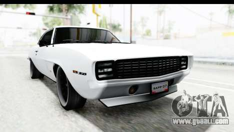Chevrolet Camaro SS 1968 White Edition for GTA San Andreas right view