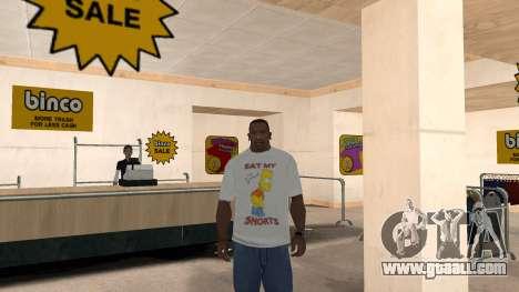 Bart Simpson T-Shirt for GTA San Andreas