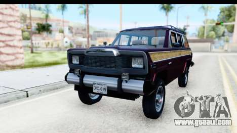 Jeep Grand Wagoneer for GTA San Andreas right view