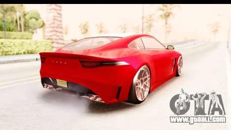 GTA 5 Ocelot Lynx IVF for GTA San Andreas back left view
