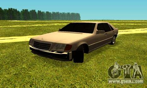 Mercedes Benz W140 for GTA San Andreas left view