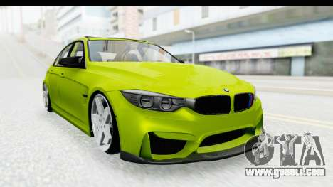 BMW M3 F30 Hulk for GTA San Andreas back left view