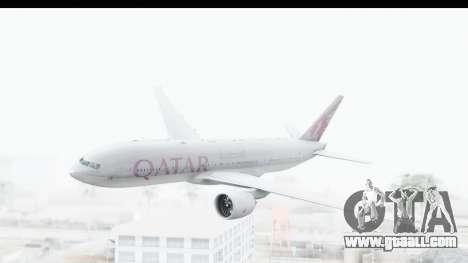 Boeing 777-200LR Qatar Airways for GTA San Andreas back left view