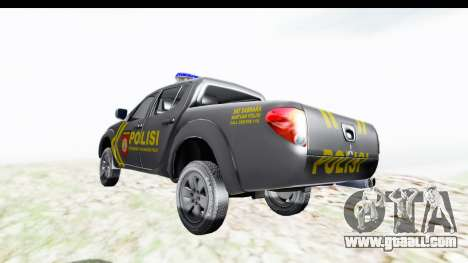 Mitsubishi L200 Indonesian Police for GTA San Andreas back left view