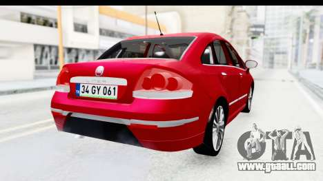 Fiat Linea 2015 v2 for GTA San Andreas left view